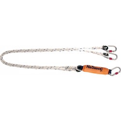 Assorbitore di energia con corda trefolata a doppia corda Y