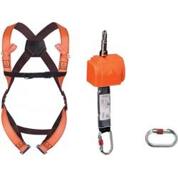 Kit completo anticaduta per spostamenti verticali e orizzontali fino a 2,5 mt