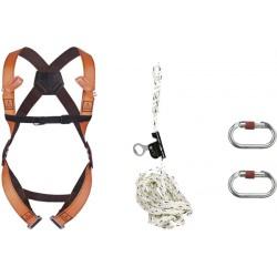 Kit completo anticaduta per lavori su corda